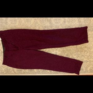 Burgundy wool dress pants